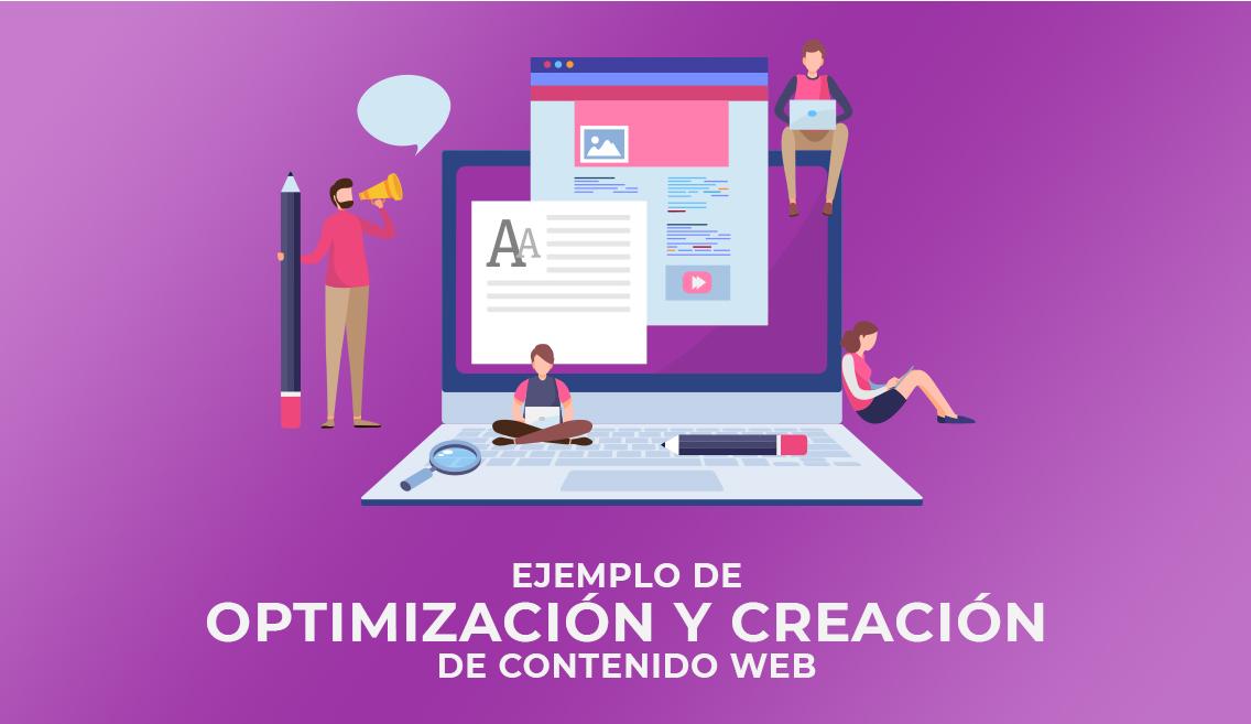 Ejemplo de optimización y creación de contenido web